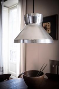 Dettaglio della lampada anni '50